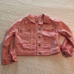Guess | cropped pink denim jacket